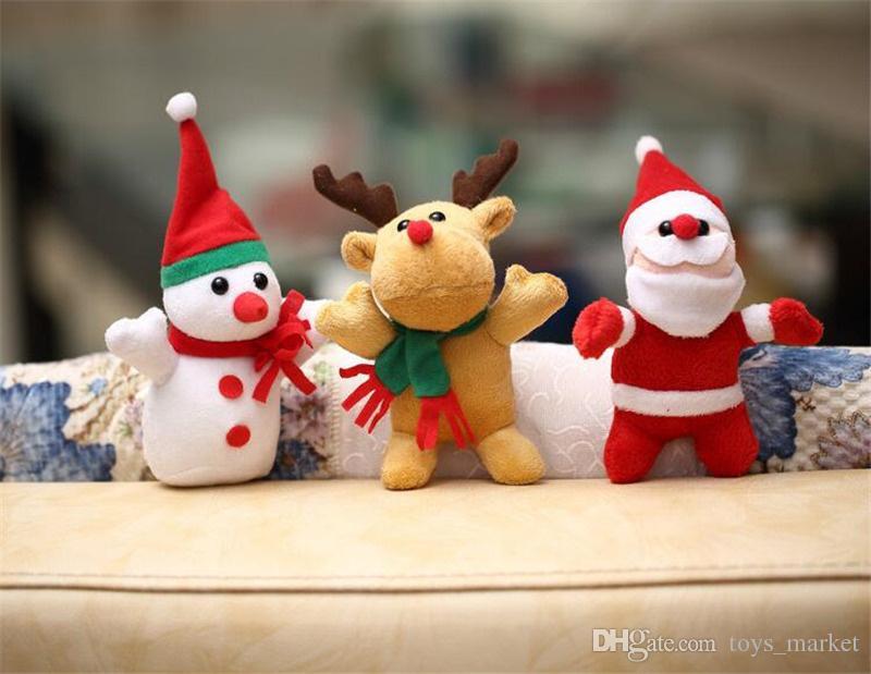 Decorazione di Natale delle bambole della peluche del pendente dei giocattoli della peluche della renna del pupazzo di neve del regalo di Natale di 3 stili Trasporto libero