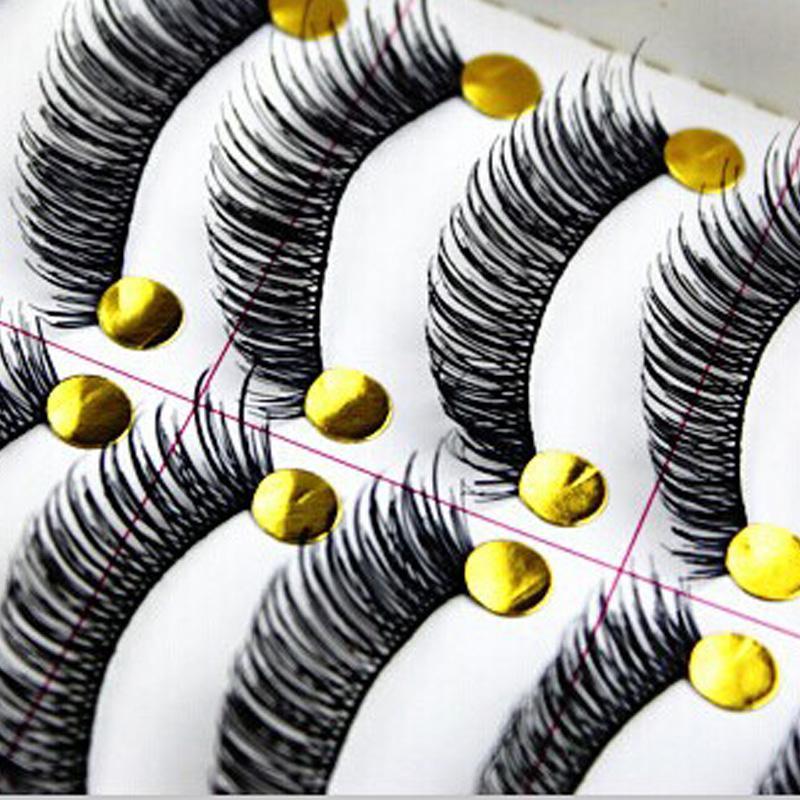 Wholesale- 30 Paar Cotton Stalk Black Eye Lashes lange starke falsche Wimper-gefälschte Augen-Peitsche-Maquillaje Wimpernverlängerung Werkzeug maquiagem