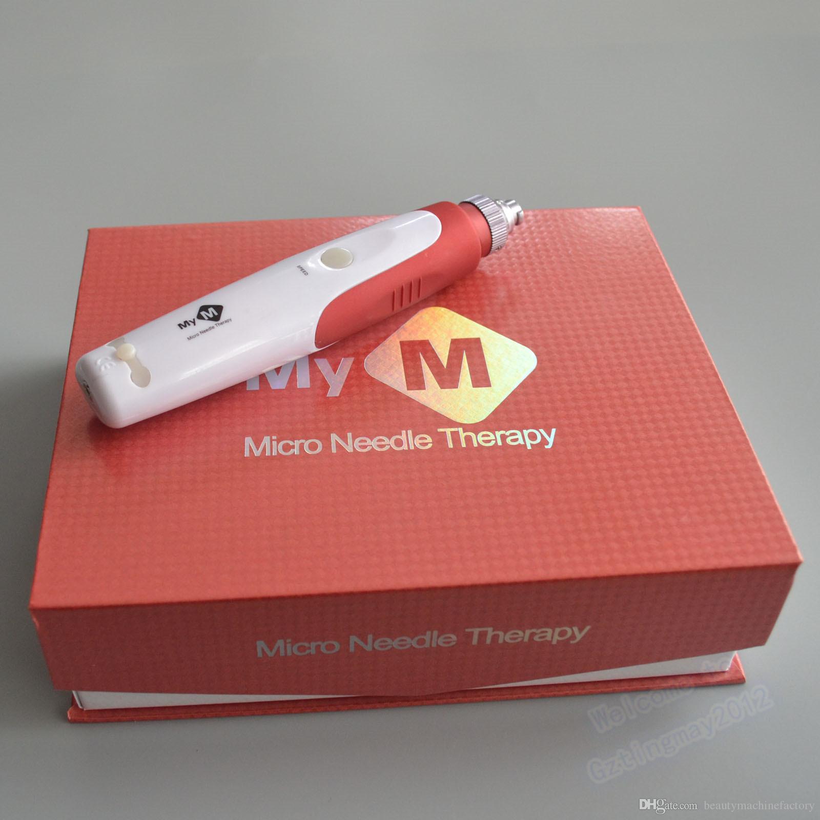 Terapia de aguja Micro Derma Stamp y puntas de aguja 52 piezas, meso pluma Derma eléctrica sello, MYM derma pluma, micro aguja rodillo, máquina de belleza