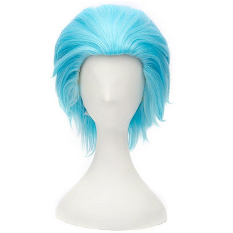 Parrucca corta Hairstyles Cosplay Colore marrone blu Capelli sintetici falsi per uomo Fibra ad alta temperatura