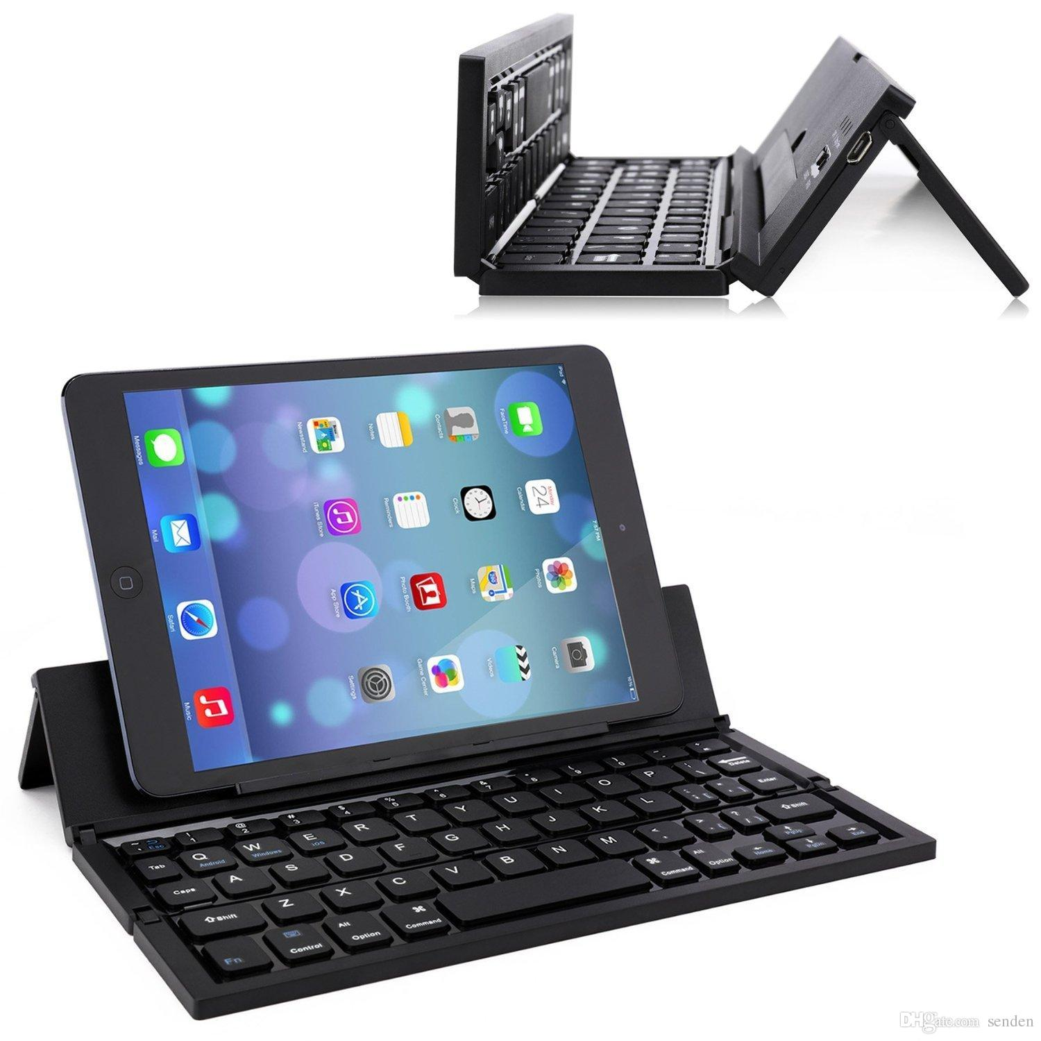 Universal Multiple Foldable Bluetooth Pocket Keyboard With Stand,Ultra Slim  Aluminum Keyboard For IOS/Android/Windows PC/Tablets/Smart Phone Keyboard