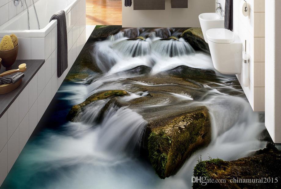 Pavimento in PVC per bagno Pavimento in cubico per bagno 3d Pavimento in 3d