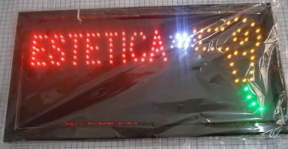 LED- 2016 hot venda 10X19 polegadas interior brilhante correndo Estetica / barbearia Neon atacado Ultra leve sinal de bordo