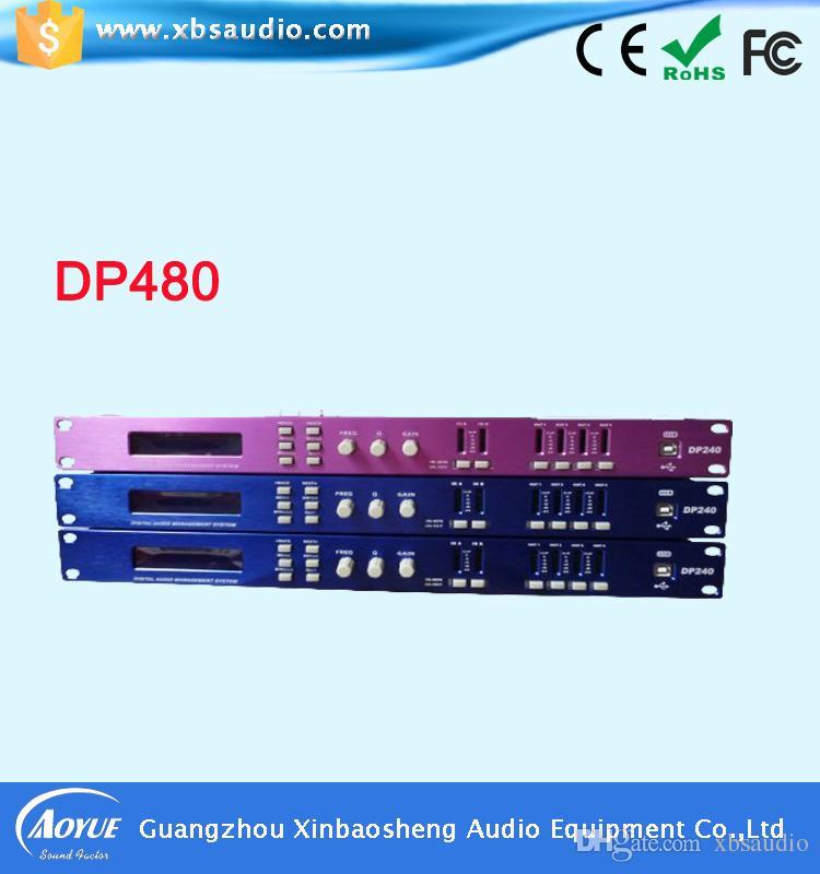 4 in 8 fuori Cina produttore digitale professionale processore audio dsp DP480 processore audio digitale karaoke