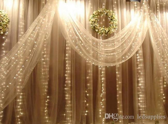 Perde ışıkları yılbaşı ışıkları 10 * 8m 10 * 5m 10 * 3m 8 * 3m 6 * 3m 3 * 3m led ışıklar Buz makale lambası Noel süs ışıkları Flaş Renkli Peri