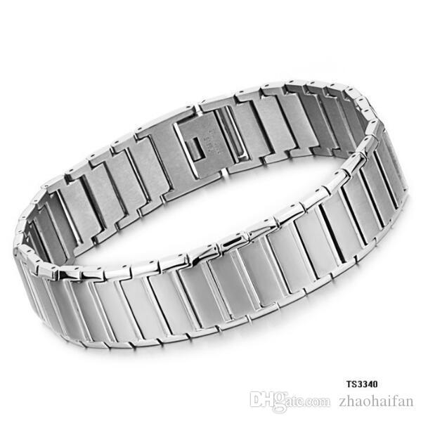 ZHF Bijoux En Acier Inoxydable Bracelet 316L Montre Bande Conception De Mode Hommes Bijoux Plus Épais Bracelets Pour Homme GS3340