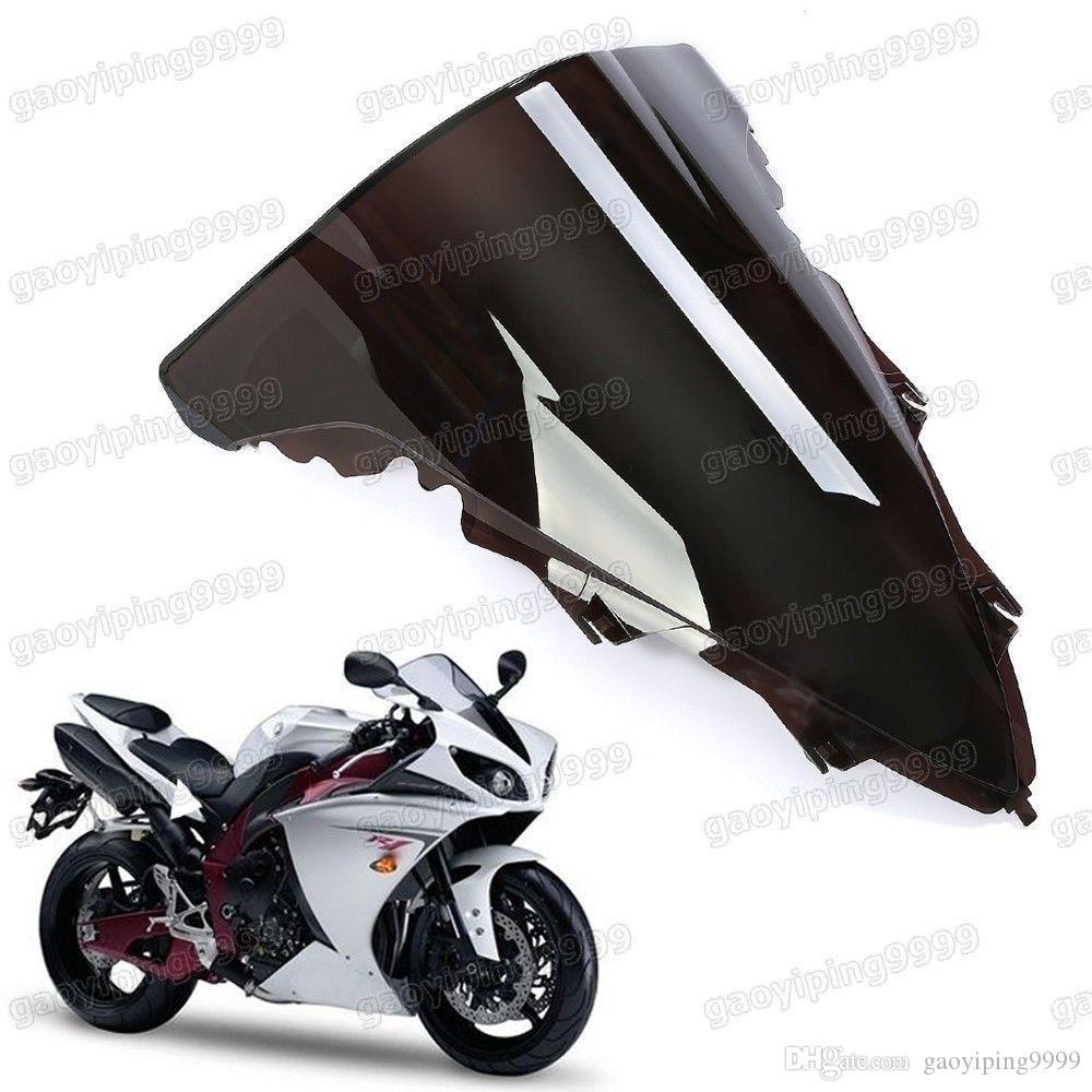 Nova motocicleta dupla bolha pára-brisa carenagem ABS lente para Yamaha YZF R1 2009-2014 2010 2011 2012 2013