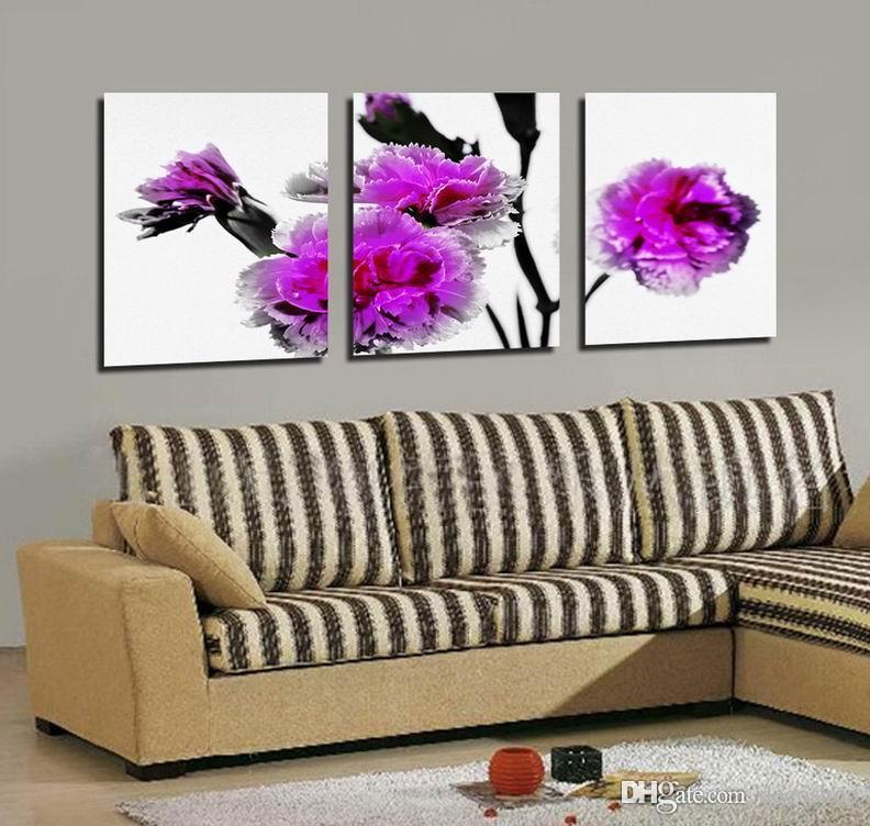 캔버스 홈 장식 벽 예술 Set30299에 현대 아름 다운 꽃 좋은 꽃 회화의 giclee 인쇄