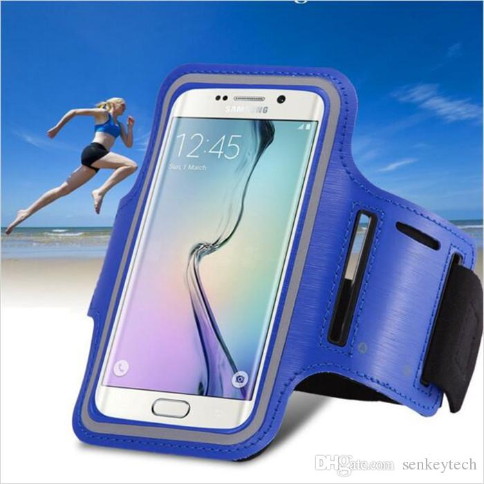 Wasserdichte Turnhalle Sport laufen Armband Arm Band Tasche Telefon Fall Abdeckung + Schlüsselhalter für IPhone4 / 5/6 / 6plus Samsung S3 / S4 / S5 / S6 Hinweis4 Hinweis5