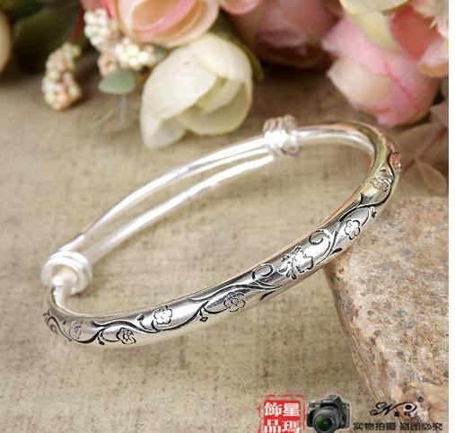 2016 wholesale womens ladies females animals pening Miao silver ethnic opening Tibetan silver bangles bracelets wristband 10styles