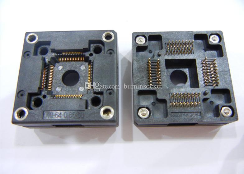 Enplas QFP64Pin IC Gniazdo testowe OTQ-64-0,65-03 0.65mm Pitch Burn in Socket Original