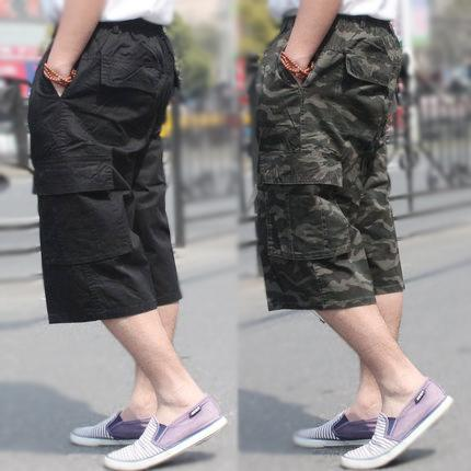 bb60cb062d Mens clothing Men shorts Pockets Cargo shorts Plus size Camo casual hiphop  loose cotton twill Zippers