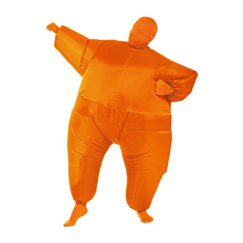 Adult Fat Suit Inflatable Blow Up Color Full Body Costume Jumpsuit Fancy Dress