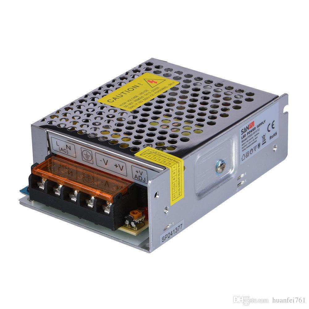 SANPU SMPS Driver LED 5V 12 V 24 V 60W Zasilanie napięcia Stałego napięcia dla LED WORD 110V 220 V AC do transformatora światła DC