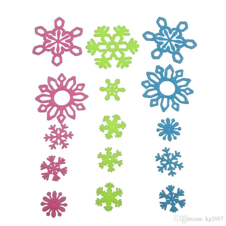 Décorations de Noël de mur bricolage lumineux stickers muraux neige Stickers muraux fluorescents pour les chambres d'enfants décoration