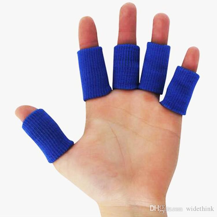 Stretchy Finger Support Tape Beathable Sleeve Guard Basketball Sports Safety Fingerstall Nylon High Elastic Caps Protector