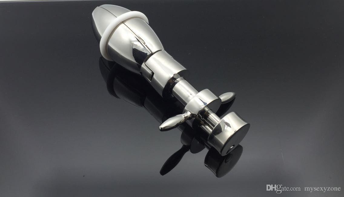 Das spezielle Design der beweglichen Hinterhofschraube aus Edelstahl für Männer und Frauen liefert g-Punkt-Hinterhof-Anal-Chrysanthemen