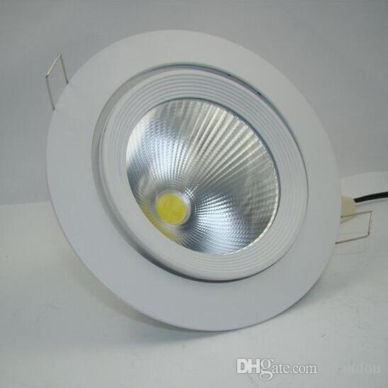 Regolabile 30W bianco caldo / naturale Whtei / freddo bianco COB LED giunto cardanico incorporato tronco lampada led condotto giù luce Led negozio luce accendino AC85-265V