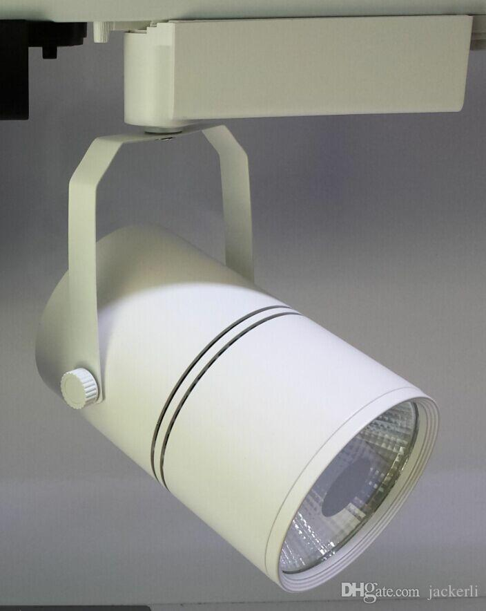 Hohe Qualität 30W LED-Spur-Licht-COB-Spot-Beleuchtung Downlights-Treiber AC85-265V Schwarz- oder Weiß-Schale optional
