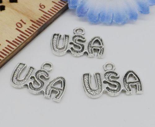 Freies Schiff 300 STÜCKE Tibetischen Silber USA Charms Anhänger Für Armband Schmuck Machen 15x11mm