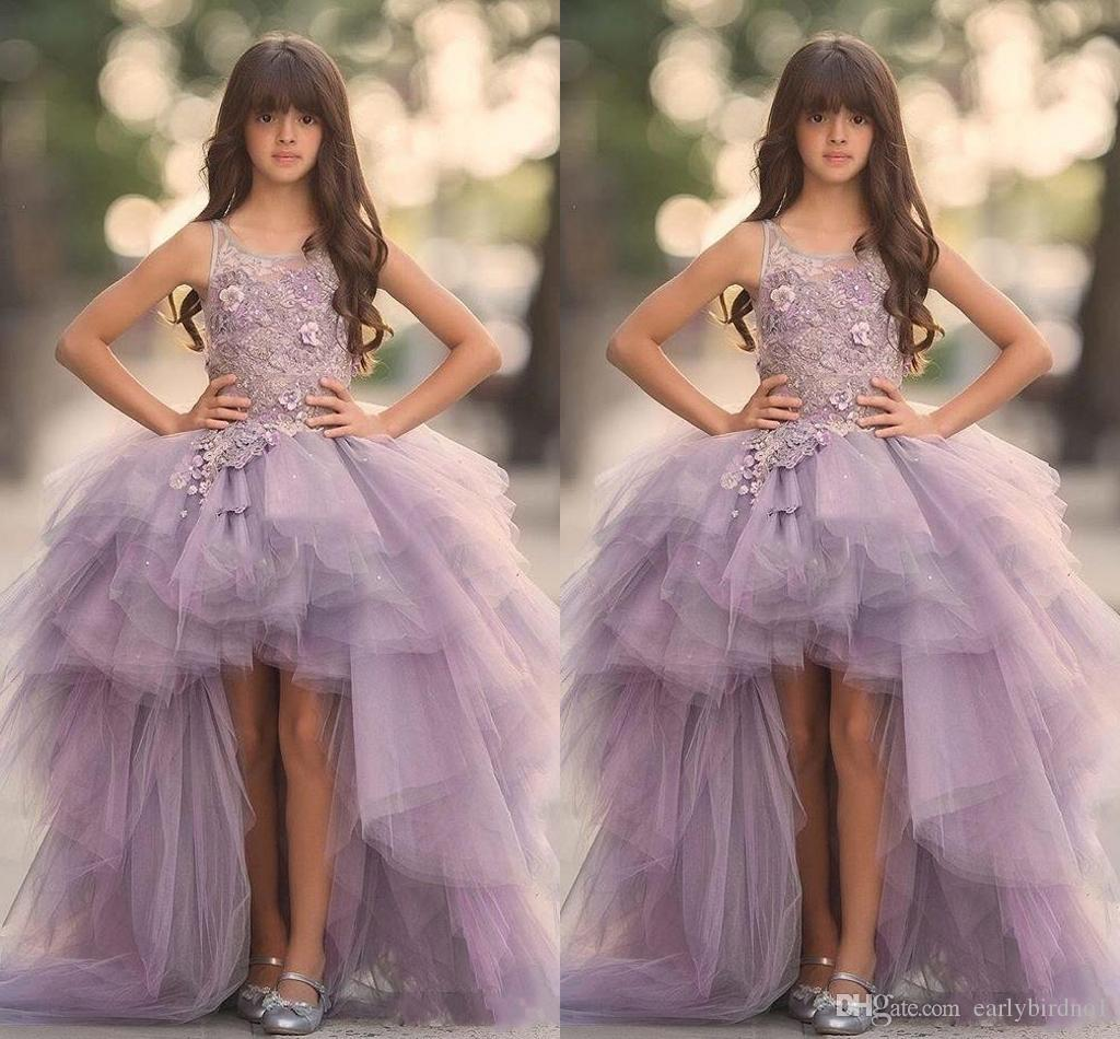 Girls Lavender Bling Strapless Dress
