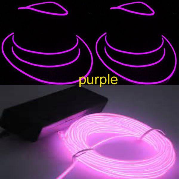 Interesante y flexible 10M rosa Color del cable EL en 5 mm de largo tiempo de la vida EL EL producto en un paquete