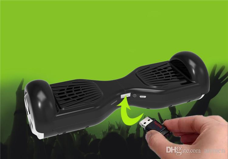 2017 Balance Car Scooter Mini Portable Wireless Bluetooth Mini Speaker Twisting Car Balancing Wheel Hoverboard Shape Stereo TF USB Handsfree