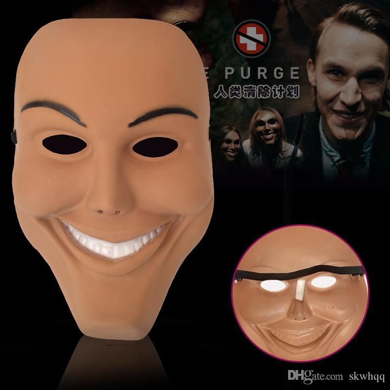 Nuovo Cosplay The Purge Smiling Face Mask Festival Party Maschera di Halloween --- Loveful