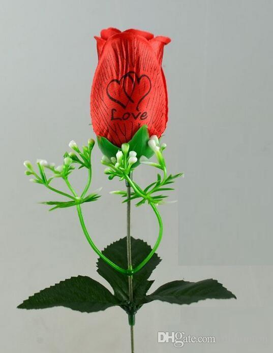Prezzo all'ingrosso rosa singolo con amore e fragranza fiori di seta fiori artificiali sei colori per scegliere HR020