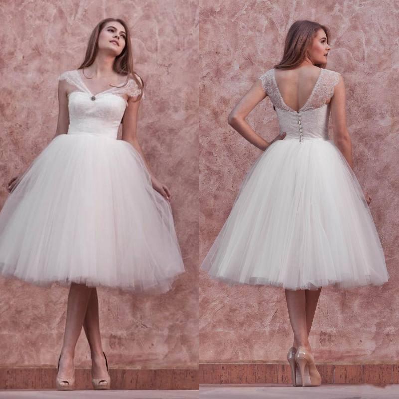 Plage De Longueur Robes De Mariée Robes De Mariée 2016 Robes De Mariée Vintage Robes De Bal De Dentelle D'été Avec Des Sangles