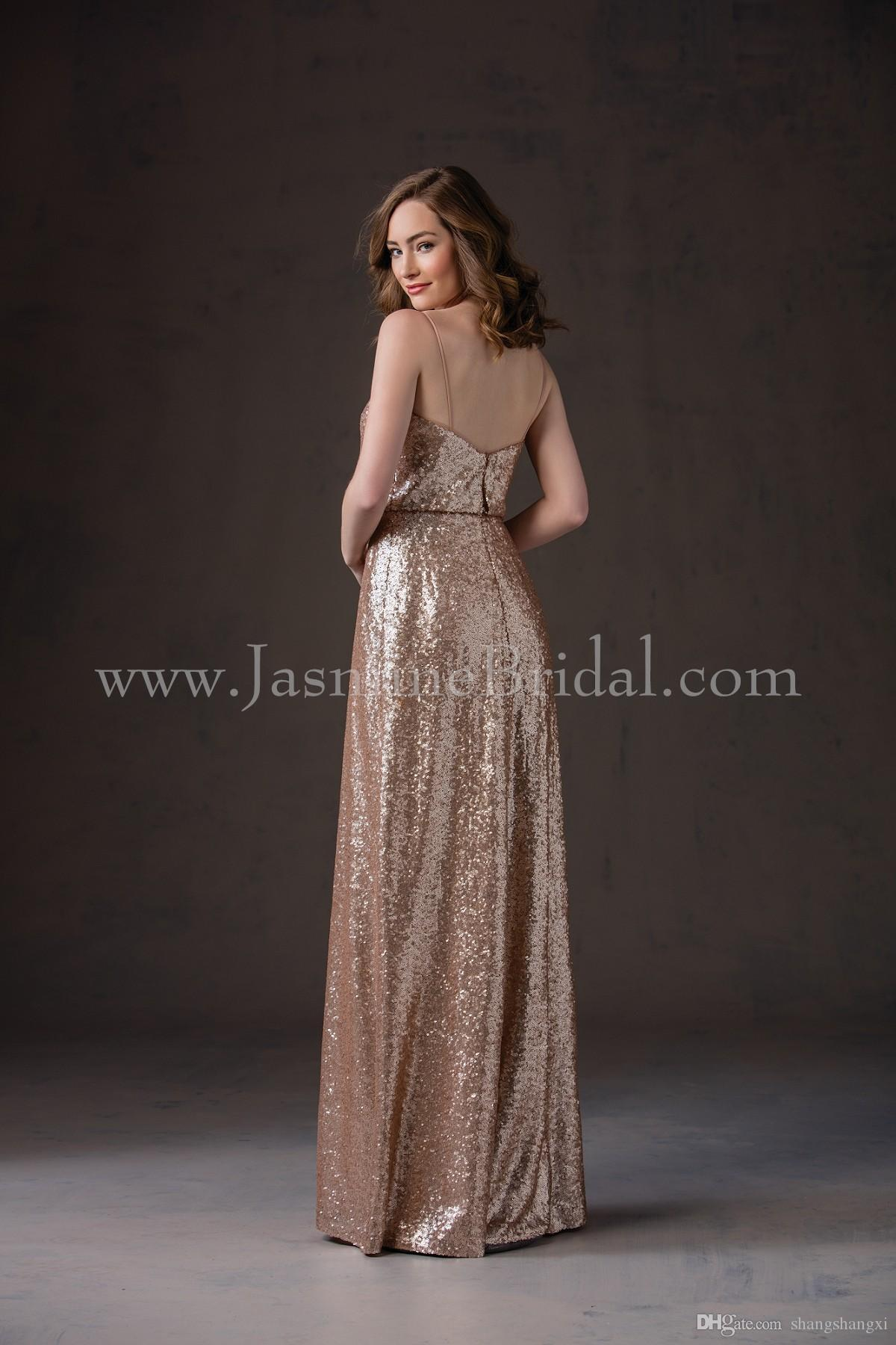 Cheap hot gold 2017 fall jasmine bridesmaid dresses cheap hot gold 2017 fall jasmine bridesmaid dresses cheap spaghetti strap a line sequins long junior bridesmaid ombrellifo Gallery