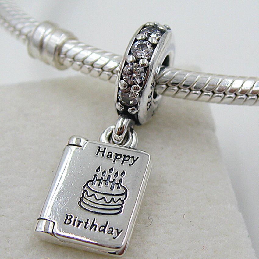 Neue 100% S925 Sterling Silber Geburtstagswünsche baumeln Charm Bead passt europäischen Schmuck Armbänder Halsketten Anhänger
