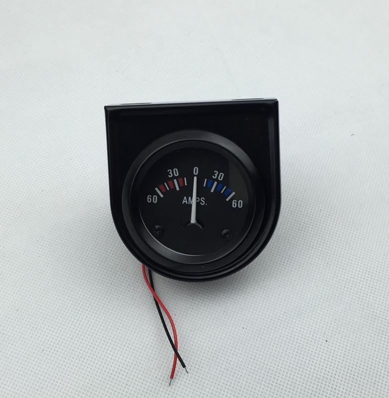 "2 ""(52mm) Universal Amperímetro 60-0-60 AMP Calibre 12 Voltímetro Auto Gauge Incluem Suporte"