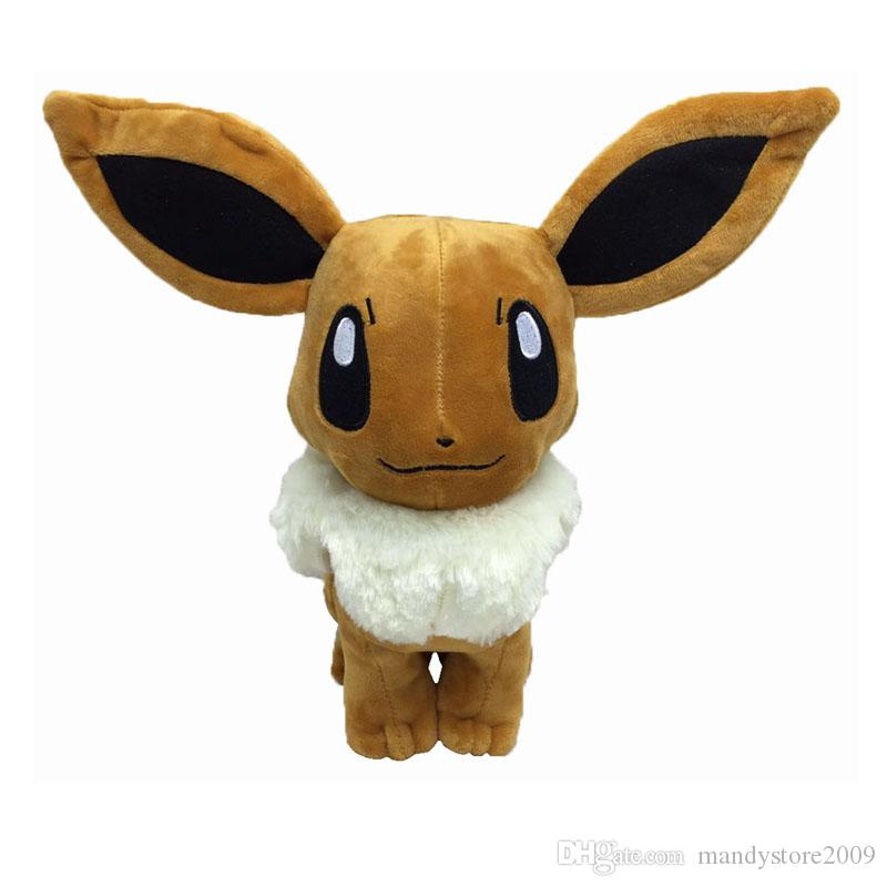 Wholesale High Quality Large Eevee Dolls Plush Toys Soft Stuffed Dolls Eevee Cute Baby Toys Plush Animals Plush Best Kids Gift Free shipping