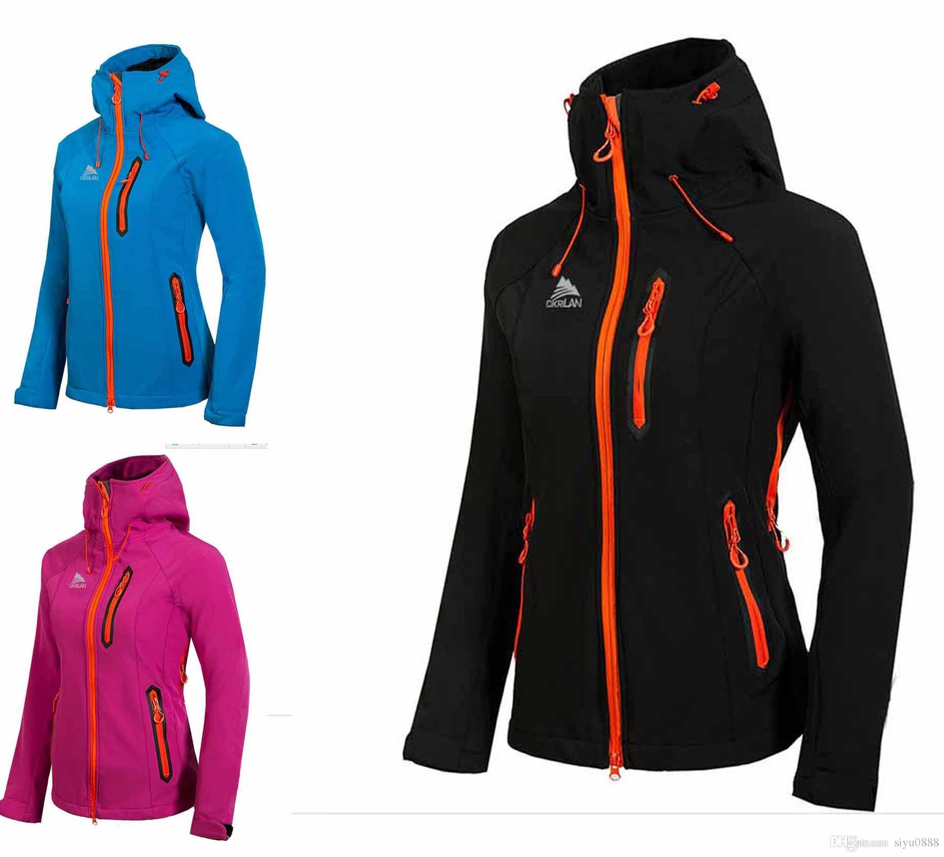 Großhandel 2017 NEUE Softshell Polartec Sportjacke Damen Frauen Verkäufe Fleece Apex Bionic Winddicht Wasserdicht Atmungsaktiv Gesicht Outdoor Mäntel
