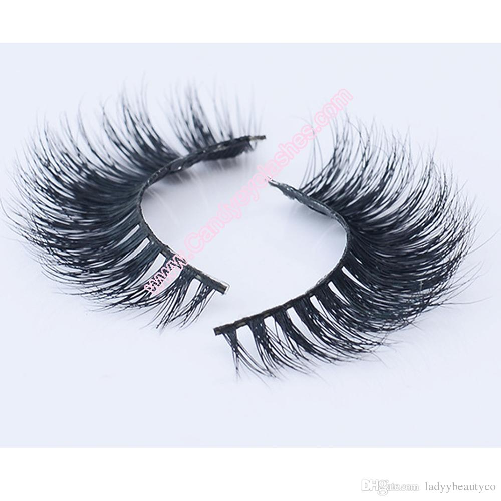 dbd1667b371 ... 3D mink eyelashes wholesale 100% real mink hair Handmade crossing lashes  D09 individual strip thick ...
