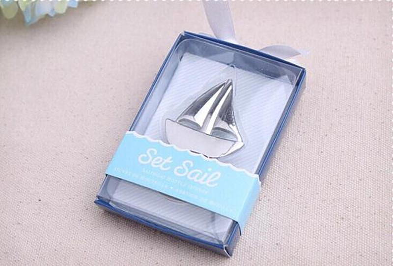 2016 New Beach Themed Event Supplies Set Sail Sailboat Bottle Opener Wine Opener Beach Wedding Gift European Style Wedding Decorations