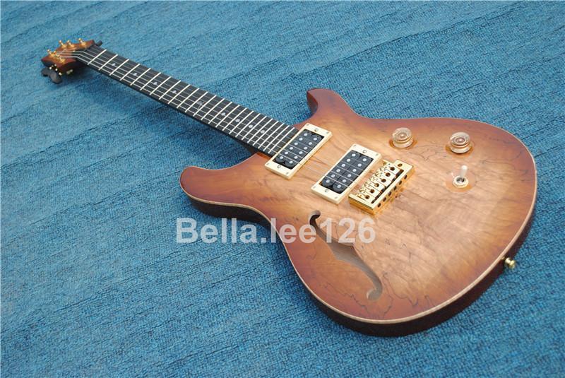 Custom guitar store, semi-oco corpo paul Reed guitarras elétricas, ébano fingerboard 12 trastes guitarra assinatura personalizada