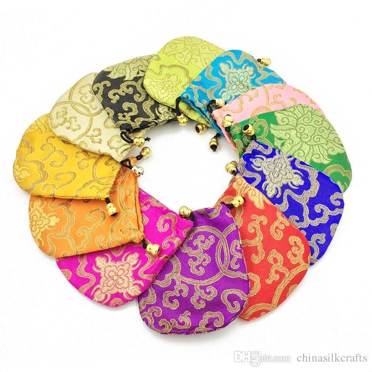 Petit pas cher Sac à cordonnet Cadeau brocart de soie de bijoux Pouch Bonbons thé fête de mariage Sacs Favor tissu d'emballage