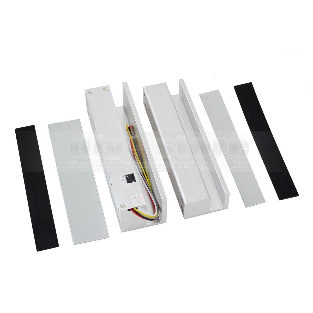 DIYSECUR 보안 전자 낙하 볼트 잠금 장치 전체 프레임 덜 유리 문 전자 도어 잠금 액세스 제어 시스템 키트