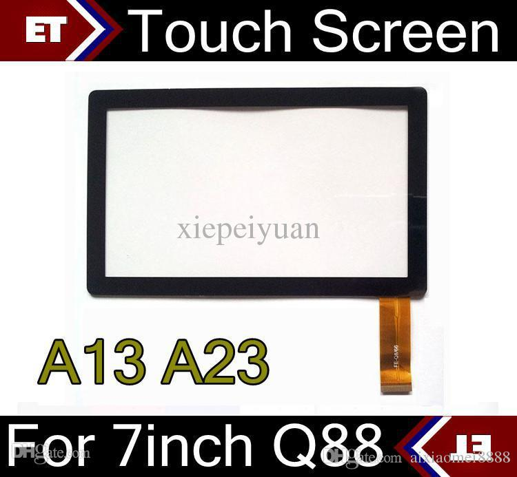 50PCS Brand New Touch Screen Display Glass Replacement For 7 Inch Q88 Q8 A33 A23 Tablet PC MID