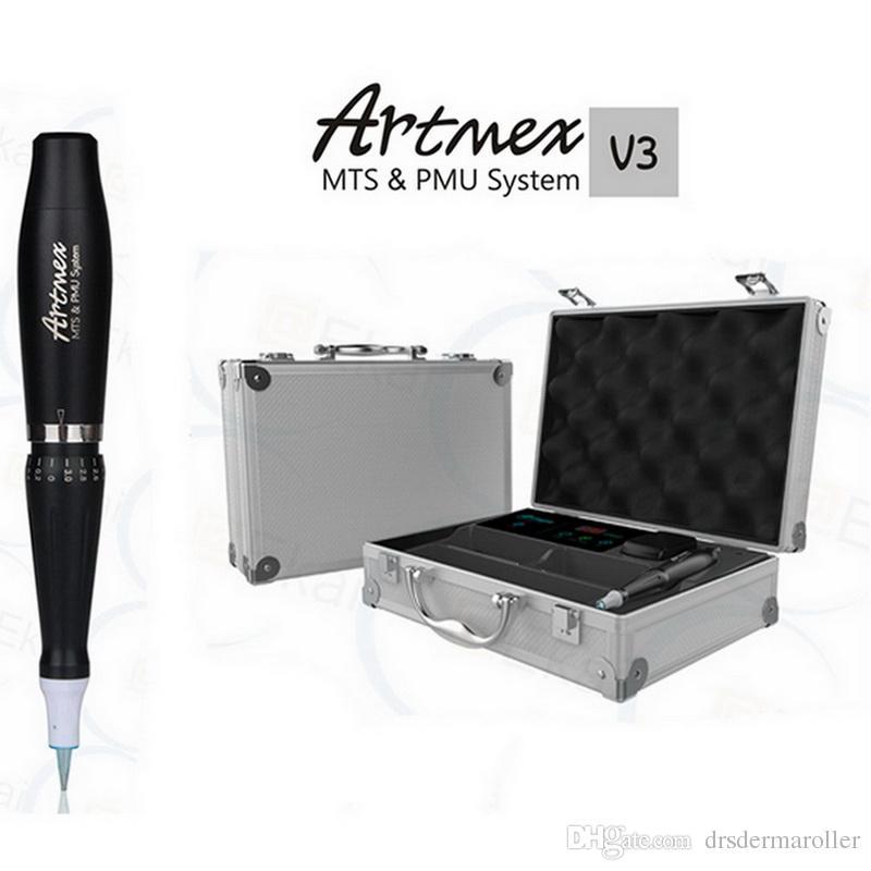 Koffer Stil Semi Permanent Makeup Augenbrauen Eyeliner Maschine Plus 100 Stücke PMU Nadeln für Kosmetische Tattoo
