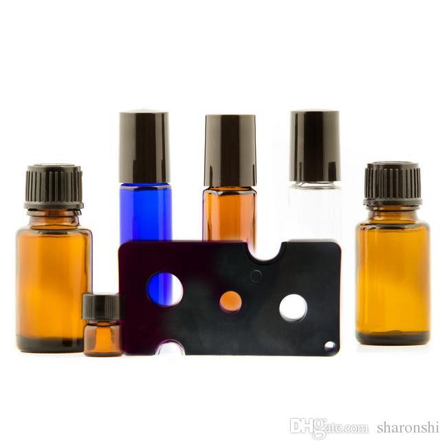 7Colors Essential Oil Opener Key Tool Remover voor Roller Balls and Caps Flessen 1ml 2 ml 3 ml 5ml 10ml 700pcs / lot door DHL / EMS / FEDEX gratis schip