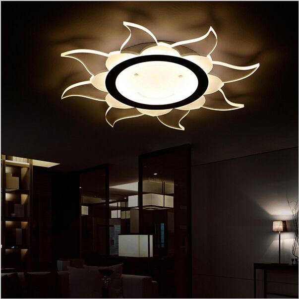 Супер-тонкий современный круглый светодиодные потолочные светильники поверхностное крепление потолочные светильники акриловые лампы свет главная гостиная спальня светодиодные потолочные светильники
