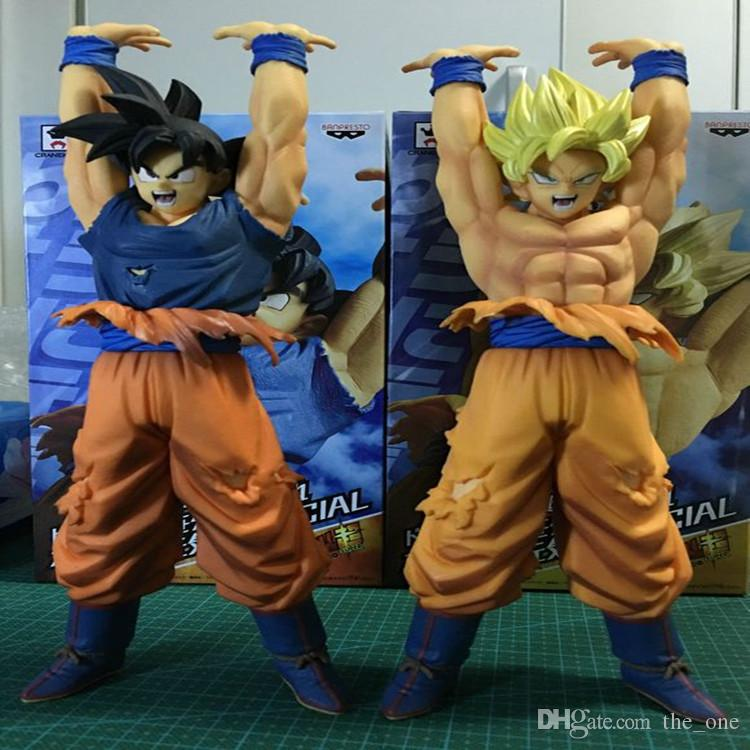 24cm Dragon Ball Z Genki damaSpirit Bomb Super Saiyan Goku Anime Cartoon Action Figures Collection Model Toys free shipping