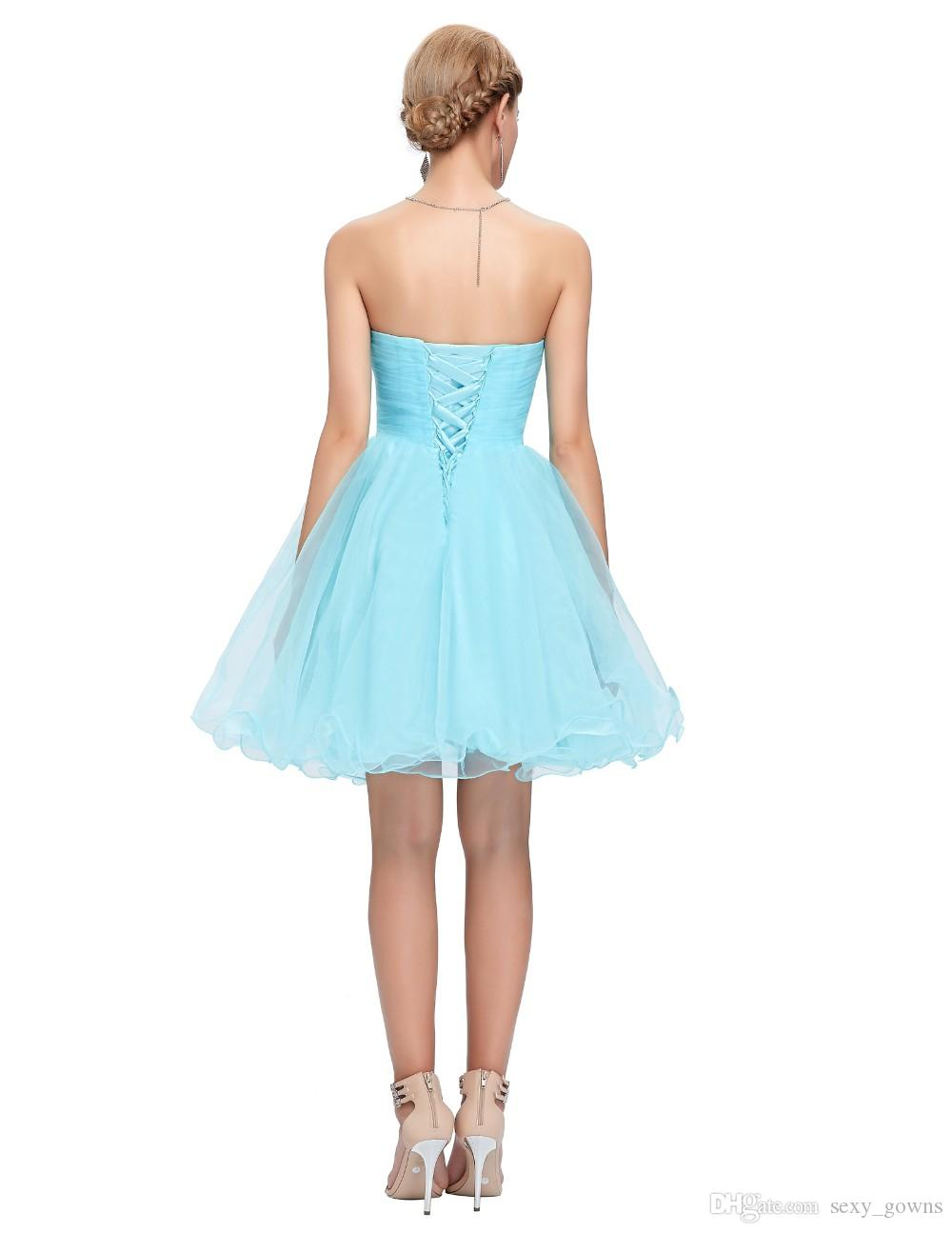 Grace Karin Sweetheart Short Prom Dresses Pink Blue Black White ...