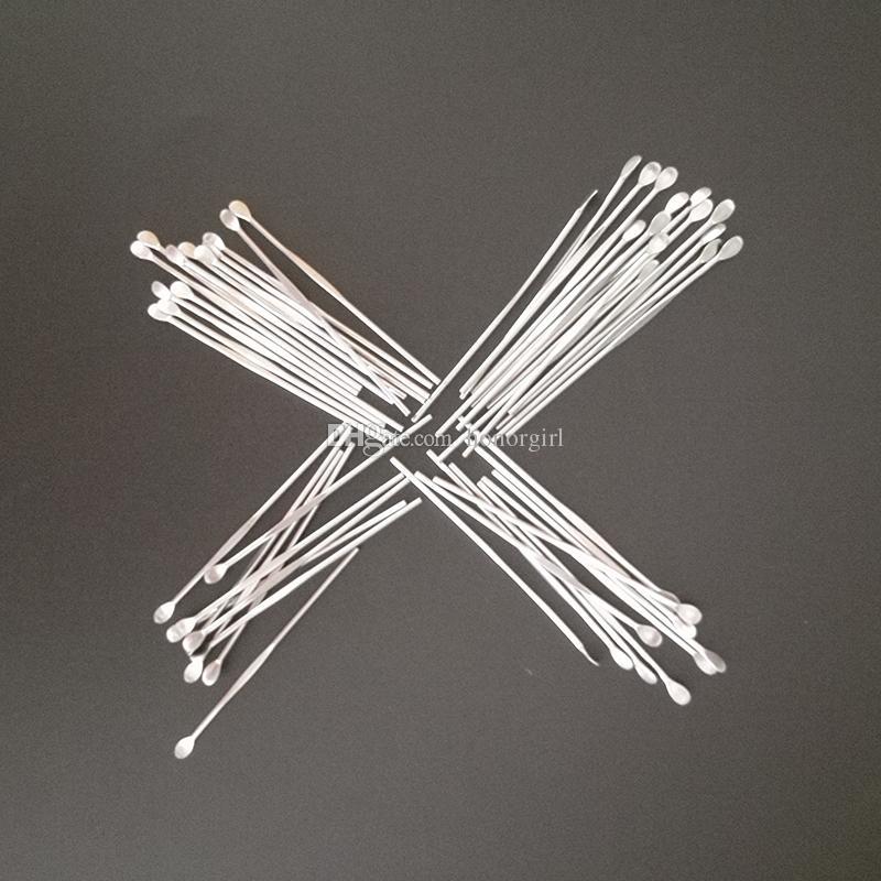 Cera Dabber Tools Clean Accesorios para fumar Accesorios para fumar de acero inoxidable Metal Earpick 80mm para contenedor Hierbas secas Bongs Hoodas