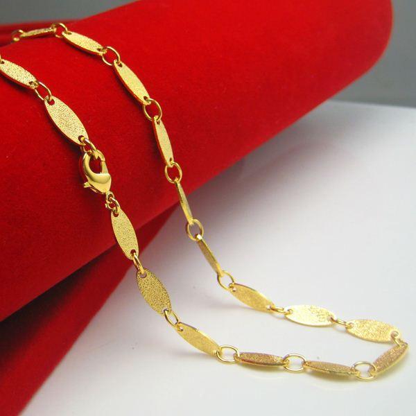 Compre Por Um Longo Tempo Não Se Desvanece Moda Modelos Femininos Dourados Colar De Corrente De Ouro Areia Retro Presentes Simples E Generosos De