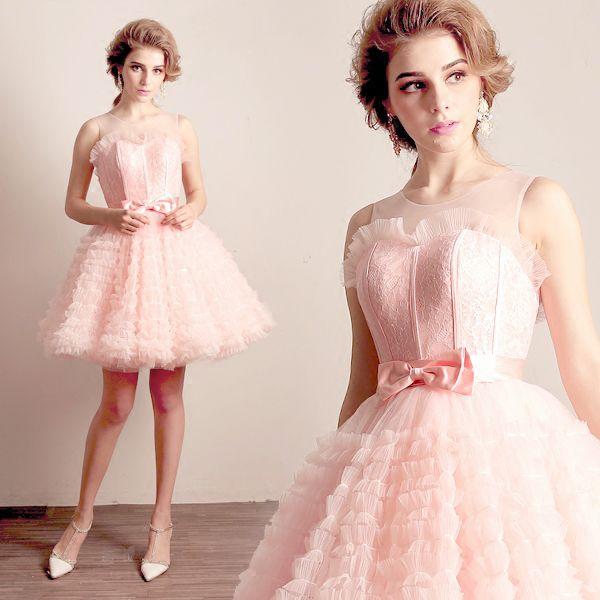 Бесплатная доставка светло-розовое кружево облако трепал платье лолита / балет / сценический танец платье