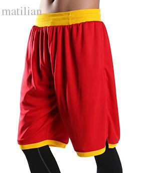 Спортивно-спортивные баскетбольные шорты Летние спортивные тонкие до колен эластичные кроссовки для мужчин